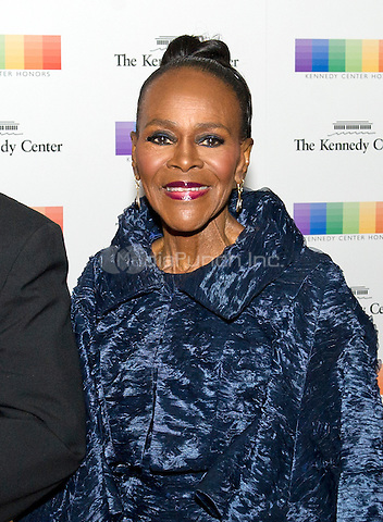 Broadway star Cicely Tyson arrives for the formal Artist's Dinner honoring the recipients of the 38th Annual Kennedy Center Honors hosted by United States Secretary of State John F. Kerry at the U.S. Department of State in Washington, D.C. on Saturday, December 5, 2015. The 2015 honorees are: singer-songwriter Carole King, filmmaker George Lucas, actress and singer Rita Moreno, conductor Seiji Ozawa, and actress and Broadway star Cicely Tyson.<br /> Credit: Ron Sachs / Pool via CNP/MediaPunch