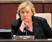 United States Representative Zoe Lofgren (Democrat of California), Chairman, U.S. House Committee on Standards of Official Conduct Adjudicatory Subcommittee listens as the charges against U.S. Representative Charlie Rangel (Democrat of New York) during an organizational meeting in the Capitol in Washington, D.C. on Thursday, July 29, 2010..Credit: Ron Sachs / CNP..(RESTRICTION: NO New York or New Jersey Newspapers or newspapers within a 75 mile radius of New York City)