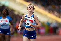 Sophie HAHN of GBR wins her 100m T37/38 race during the Muller Grand Prix Birmingham Athletics at Alexandra Stadium, Birmingham, England on 20 August 2017. Photo by Andy Rowland.