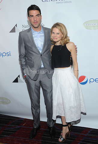 New York, NY- May 16:  Zachery Quinto and Celia Keenan Bolger attends the 80th Annual Drama League Awards Ceremony and luncheon at the Marriot Marquis Times Square on May 16, 2014 in New York City. Credit: John Palmer/MediaPunch