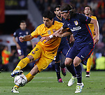 05.04.2016 Barcelona. Uefa Champions League Quarter-finals 1st leg. Game between FC Barcelona agaisnt Atletico de Madrid at Camp Nou. Picture show Luis Suarez and Filipi Luis
