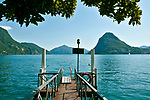 View of Lake Lugano from Lugano, Switzerland.