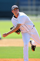 Detroit Tigers minor league player Drew Smyly during a spring training game against the Houston Astros at Tiger Town on March 23, 2011 in Lakeland, Florida.  Photo By Mike Janes/Four Seam Images