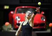 30th April 2017, Stuttgart, Germany; Porsche Tennis Grand Prix Final, ladies singles Stuttgart; Laura SIEGEMUND (GER) plays Kristina Mladenovic (FRA) in the final