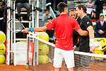 Serbian Novak Djokovic and Scotch Andy Murray during  TPA Finals Mutua Madrid Open Tennis 2016 in Madrid, May 08, 2016. (ALTERPHOTOS/BorjaB.Hojas)