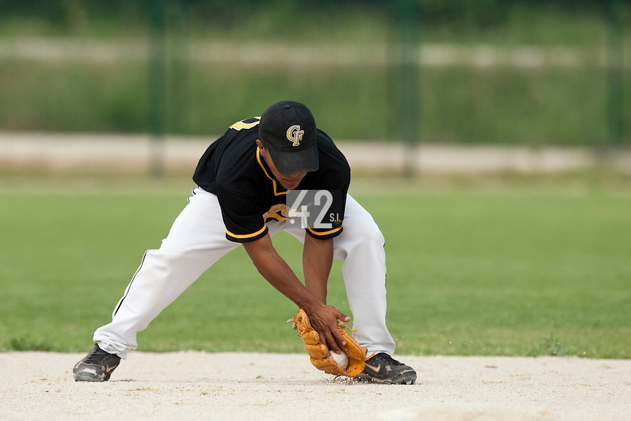 21 May 2009: Rodrigo Rodriguez of Clermont-Ferrand is seen during the 2009 challenge de France, a tournament with the best French baseball teams - all eight elite league clubs - to determine a spot in the European Cup next year, at Montpellier, France.