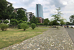 Germany-Frankfurt/Main - June 16, 2018 -- ECB - European Central Bank / Eurosystem, premises on river Main / East End (Ostend), with i.a. new main building, designed by 'Coop Himmelb(l)au'; and newly created residential areas on the banks of river Main -- Photo © HorstWagner.eu