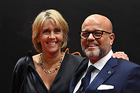 20190116 – PUURS ,  BELGIUM : Bart Verhaeghe (R) pictured during the  65nd men edition of the Golden Shoe award ceremony and 3nd Women's edition, Wednesday 16 January 2019, in Puurs at the Studio 100 Pop Up studio. The Golden Shoe (Gouden Schoen / Soulier d'Or) is an award for the best soccer player of the Belgian Jupiler Pro League championship during the year 2018. The female edition is the 3th one in Belgium.  PHOTO DIRK VUYLSTEKE | Sportpix.be