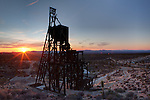 Evening Star Mine Headframe at Sunset