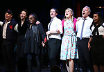 Danny Burstein, Maggie Gyllenhaal, Whoopi Goldberg, Matthew Morrison, Victoria Clark, Stephen Bogardus, Adrienne Warren during the Curtain Call for the Roundabout Theatre Company presents a One-Night Benefit Concert Reading of 'Damn Yankees' at the Stephen Sondheim Theatre on December 11, 2017 in New York City.