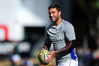 Matt Banahan of Bath Rugby looks on during the pre-match warm-up. Aviva Premiership match, between Leicester Tigers and Bath Rugby on September 25, 2016 at Welford Road in Leicester, England. Photo by: Patrick Khachfe / Onside Images