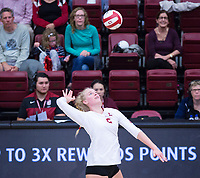 STANFORD, CA - November 4, 2018: Kathryn Plummer at Maples Pavilion. No. 2 Stanford Cardinal defeated the Utah Utes 3-0.