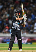 10th February 2019, Seddon Park, Hamilton, New Zealand; 3rd T20 International, New Zealand versus India;    Daryl Mitchell batting