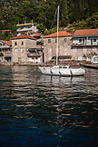 MONTENEGRO, Bay of Kotor, Sailboat in the Bay of Kotor, Ben M Thomas