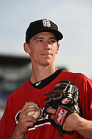 Birmingham Barons pitcher Cody Winiarski (35) poses for a photo before a game against the Chattanooga Lookouts on April 24, 2014 at AT&T Field in Chattanooga, Tennessee.  Chattanooga defeated Birmingham 5-4.  (Mike Janes/Four Seam Images)