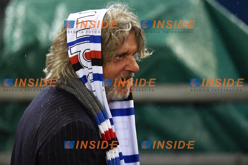 Massimo Ferrero Presidente Sampdoria <br /> Roma 16-03-2015 Stadio Olimpico Football Calcio Serie A 2014/2015 AS Roma - Sampdoria . Foto Andrea Staccioli / Insidefoto