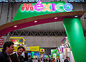 March 3, 2015, Chiba, Japan - A picture released on March 4, 2015 shows visitors walking past the Mexico booth area during the 40th annual International Food and Beverage Exhibition (FOODEX JAPAN 2015). Some 2,977 exhibitors from 79 nations participate in what is known to be the largest food and beverage exhibition in Asia. 75,000 buyers which include wholesalers, food service companies, and distributors are expected to attend FOODEX which runs from March 3-6. (Photo by AFLO)