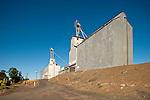 Corrugated grain elevators, Ewan, Wash.