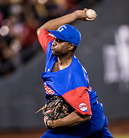 Vladimir Ba&ntilde;os, pitcher inicial por Cuba  <br /> <br /> .<br /> Partido de beisbol de la Serie del Caribe con el encuentro entre los Alazanes de Gamma de Cuba contra las &Aacute;guilas Cibae&ntilde;as de Republica Dominicana en estadio Panamericano en Guadalajara, M&eacute;xico, Lunes 5 feb 2018. <br /> (Foto: Luis Gutierrez)<br /> <br /> .<br /> Baseball game of the Caribbean Series with the match between the Gamma Alazanes of Cuba against the Cibae&ntilde;as Eagles of the Dominican Republic at the Pan American Stadium in Guadalajara, Mexico, Monday, Feb. 5, 2018.<br /> (Photo: Luis Gutierrez)