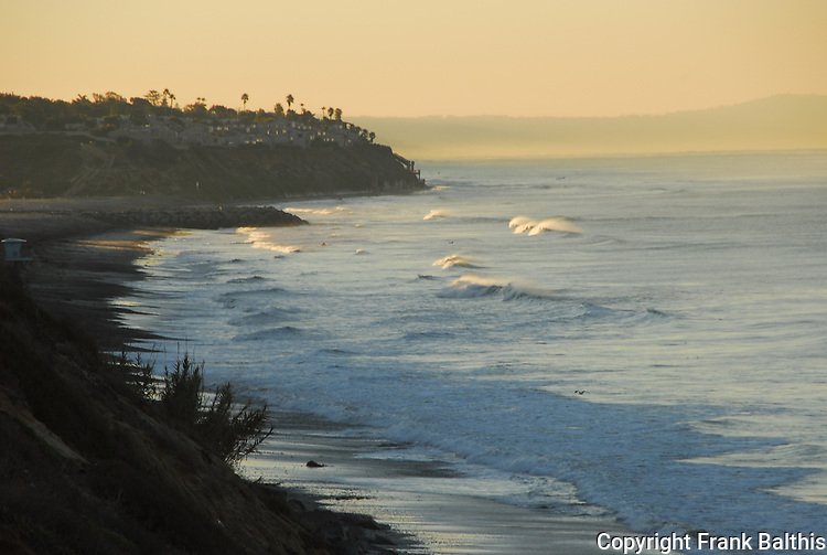South Carlsbad State Beach at sunrise