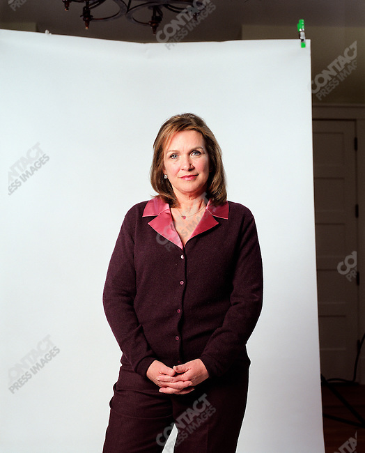 Elizabeth Edwards, attorney and wife of John Edwards, potential 2008 presidential candidate for the Democratic Party, at home. North Carolina, March 30, 2007.