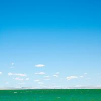 Blue skies over lake Abert, Oregon