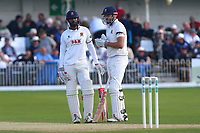 Varun Chopra (L) and Nick Browne of Essex during Yorkshire CCC vs Essex CCC, Specsavers County Championship Division 1 Cricket at Scarborough CC, North Marine Road on 7th August 2017