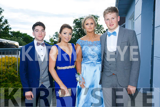 Enjoying the Killarney secondary schools Debs at Ballyroe Heights Hotel on Monday were Cian O'Sullivan, Aoife Cronin, Lisa Looney and Donncha Ó Sullivan