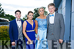 Enjoying the Killarney secondary schools Debs at Ballyroe Heights Hotel on Monday were Cian O'Sullivan, Aoife Cronin, Lisa Looney and Donncha Ó Sullivan