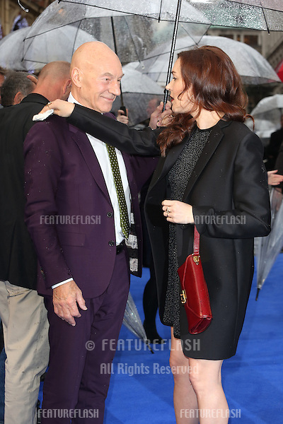 Sir Patrick Stewart, Sunny Ozell at X-Men: Days Of Future Past - UK film premiere<br /> London, England. 12/05/2014 Picture by: Henry Harris / Featureflash