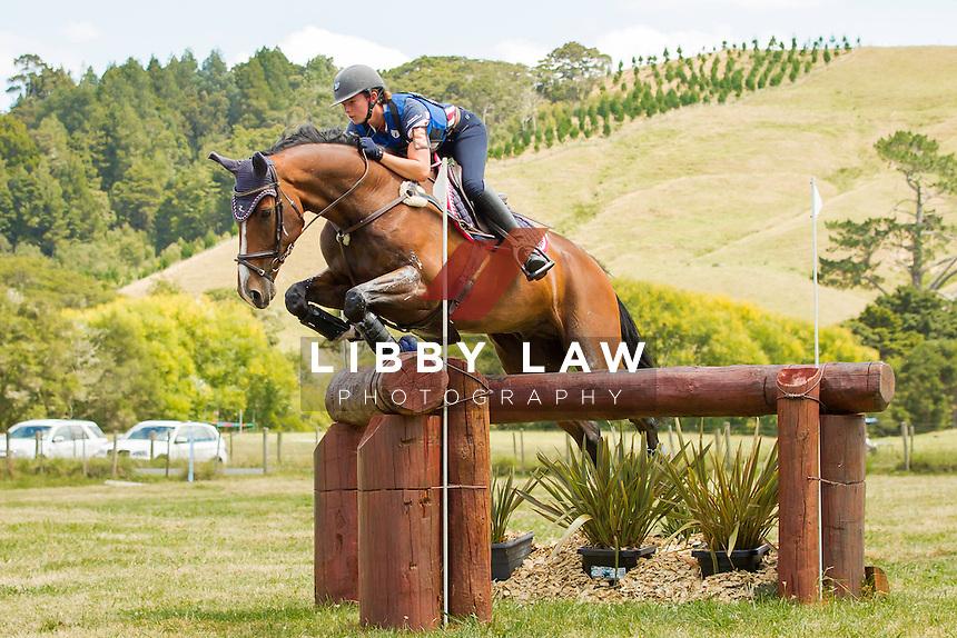 NZL-Samantha Felton (RICKER RIDGE PICO BOO) FINAL-6TH: TROY WHEELER CONTRACTING CNC2*PLUS: 2014 NZL-Troy Wheeler Contracting Springbush Horse Trial (Sunday 16 February) CREDIT: Libby Law COPYRIGHT: LIBBY LAW PHOTOGRAPHY - NZL