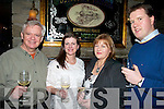 REUNION: Friends reuniting for a meal in the Station House Bar & Restaurant, Blennerville, on Saturday were l-r: Richard Nash (Newcastlewest), Marie O'Leary (Cork), Rita Bonn and JJ Bonn (both Listellick).   Copyright Kerry's Eye 2008