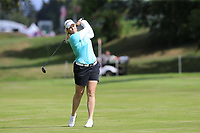 Brittany Lincicome (USA) plays her 2nd shot on the 7th hole during Thursday's Round 1 of The Evian Championship 2018, held at the Evian Resort Golf Club, Evian-les-Bains, France. 13th September 2018.<br /> Picture: Eoin Clarke | Golffile<br /> <br /> <br /> All photos usage must carry mandatory copyright credit (&copy; Golffile | Eoin Clarke)