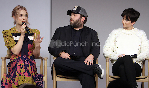 NEW YORK, NY November 09:Alison Sudol, Dan Fogler, Katherine Watersto at Apple presents Meet the Cast of Fantastic Beasts and Where to Find Them at Apple Soho  in New York .November 09, 2016. Credit:RW/MediaPunch
