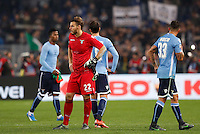 Calcio, Serie A: Lazio vs Juventus. Roma, stadio Olimpico, 4 dicembre 2015.<br /> Lazio players react at the end of the Italian Serie A football match between Lazio and Juventus at Rome's Olympic stadium, 4 December 2015. Juventus won 2-0.<br /> UPDATE IMAGES PRESS/Riccardo De Luca
