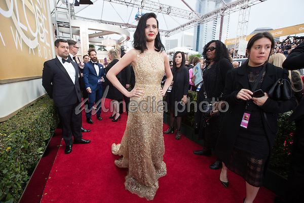 Actress Eva Green attends the 73rd Annual Golden Globes Awards at the Beverly Hilton in Beverly Hills, CA on Sunday, January 10, 2016. Photo Credit: HFPA/AdMedia