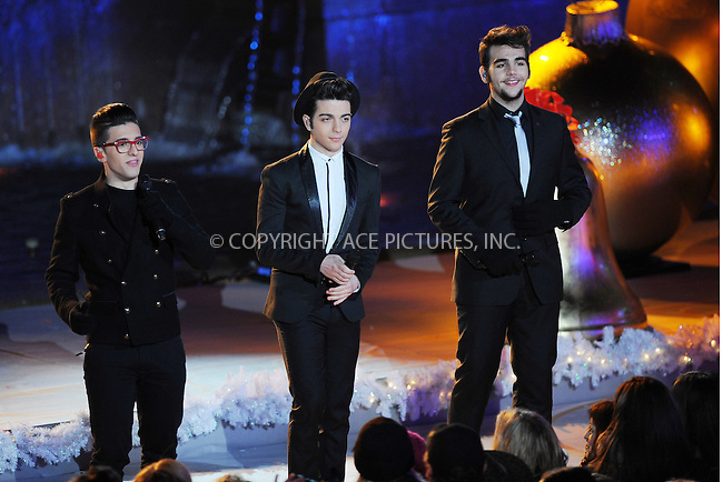 WWW.ACEPIXS.COM . . . . . .November 28, 2012...New York City...II Volo at the 80th Annual Rockefeller Center Christmas Tree Lighting Ceremony on November 28, 2012 in New York City ....Please byline: KRISTIN CALLAHAN - ACEPIXS.COM.. . . . . . ..Ace Pictures, Inc: ..tel: (212) 243 8787 or (646) 769 0430..e-mail: info@acepixs.com..web: http://www.acepixs.com .