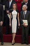 Queen Letizia of Spain during the National Culture Awards ceremony at El Pardo Palace in Madrid, Spain. February 16, 2015. (ALTERPHOTOS/Victor Blanco)