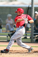 Chris Richburg, Cincinnati Reds minor league spring training..Photo by:  Bill Mitchell/Four Seam Images.