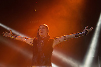 """SÃO PAULO, SP, 08.07.2017 - SHOW-SP -O cantor Ney Matogrosso realiza o show da sua turnê """"Atento aos Sinais"""" no Espaço das Américas, neste sábado, 8. (Foto: Ciça Neder/Brazil Photo Press)"""