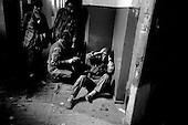 Sukhumi, Abkhazia<br /> September 27, 1993<br /> <br /> From a schoolhouse, advancing Abkhazian separatists prepare to attack Georgian forces that were held up inside the Parliament. Within hours the Abkhazians would control the Parliament building and the city.