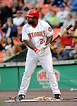 18 May 2007: Washington Nationals first baseman Dmitri Young in action against the Baltimore Orioles at RFK Stadium in Washington, DC. The Orioles defeated the Nationals 5-4 in the first game of the 3-game interleague series...Mandatory Photo Credit: Ed Wolfstein Photo
