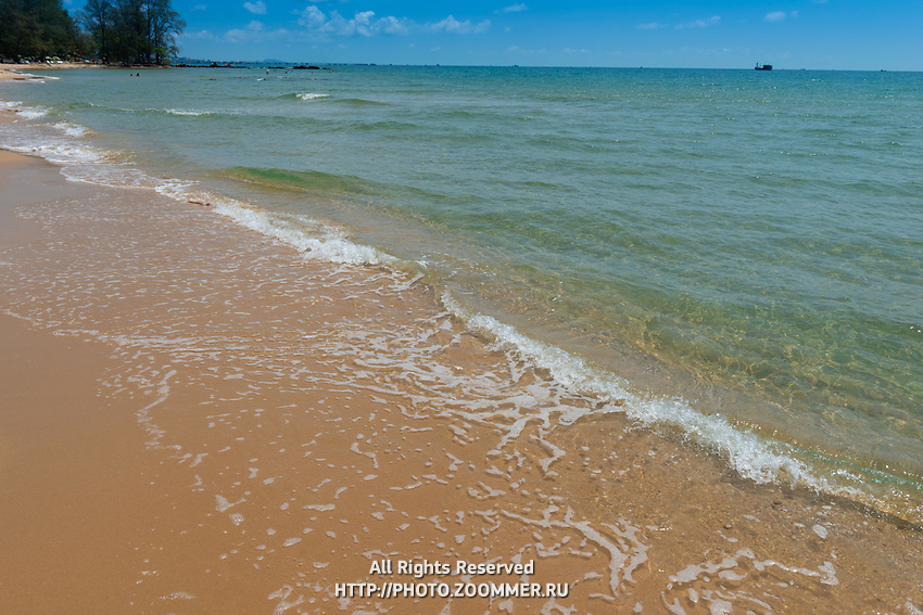 Clear water of Siam bay on the shore line of western side of Phuquoc island, Vietnam