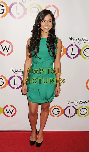 Kimberly Snyder.The Opening of Kimberly Snyder's Glow Bio in West Hollywood in West Hollywood, California,.November 14th, 2012.full length green dress black shoes sleeveless .CAP/ROT/TM.©Tony Michaels/Roth Stock/Capital Pictures