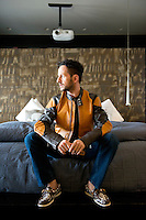 Oscar Madrazo in his apartment in Santa Fe, Mexico DF, Mexico