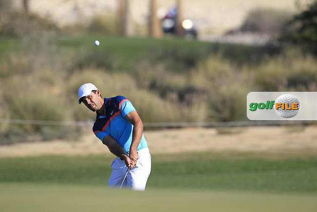 Charl Schwartzel (RSA) chips onto the 10th green during Thursday's Round 2 of the 2015 Commercial Bank Qatar Masters held at Doha Golf Club, Doha, Qatar.: Picture Eoin Clarke, www.golffile.ie: 1/22/2015