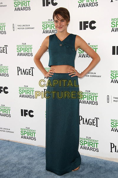 SANTA MONICA, CA - March 01: Shailene Woodley at the 2014 Film Independent Spirit Awards Arrivals, Santa Monica Beach, Santa Monica,  March 01, 2014. Credit: Janice Ogata/MediaPunch<br /> CAP/MPI/JO<br /> &copy;JO/MPI/Capital Pictures