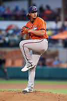 Fort Myers Miracle pitcher Dereck Rodriguez (34) delivers a pitch in the bottom of the third inning during the Florida State League All-Star Game on June 17, 2017 at Joker Marchant Stadium in Lakeland, Florida.  FSL North All-Stars  defeated the FSL South All-Stars  5-2.  (Mike Janes/Four Seam Images)