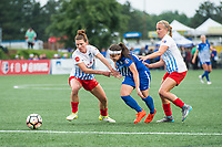 Boston, MA - Friday July 07, 2017: Arin Gilliland, Tiffany Weimer and Alyssa Mautz during a regular season National Women's Soccer League (NWSL) match between the Boston Breakers and the Chicago Red Stars at Jordan Field.