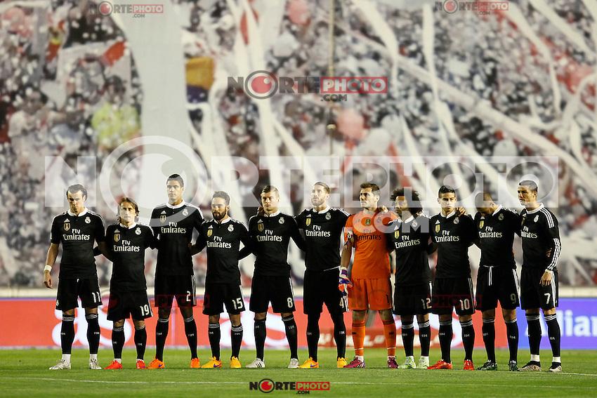 Real Madrid during La Liga match between Rayo Vallecano and Real Madrid at Vallecas Stadium in Madrid, Spain. April 08, 2015. (ALTERPHOTOS/Caro Marin) /NORTEphoto.com